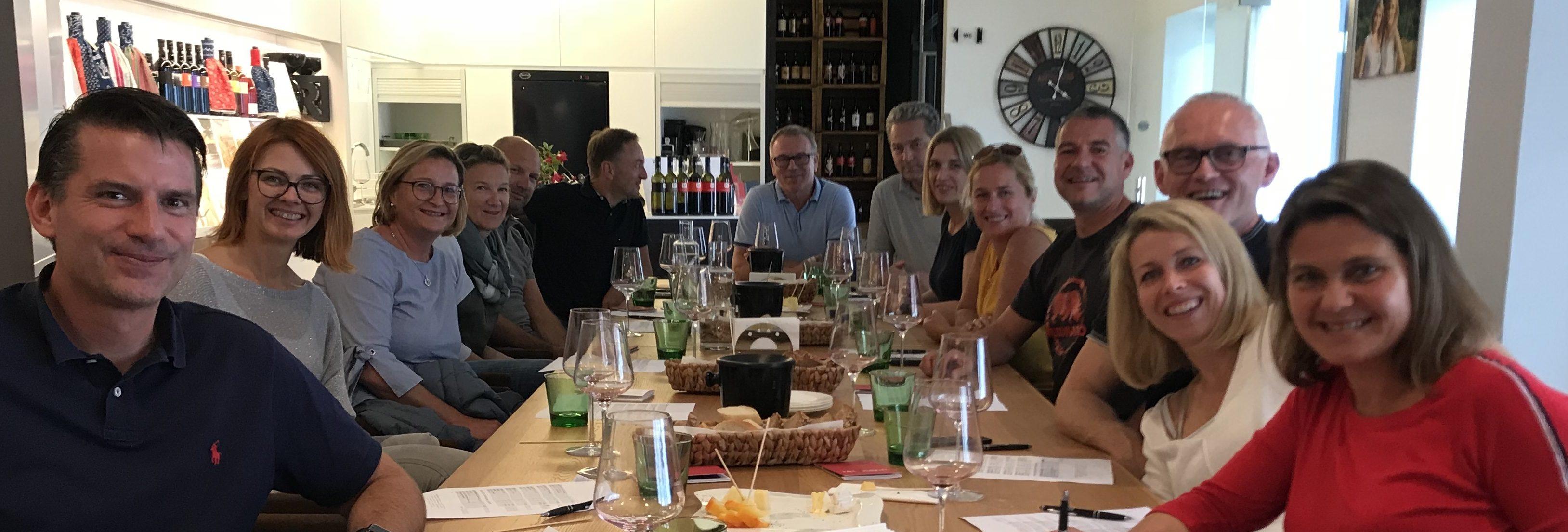 Gäste im Weingut