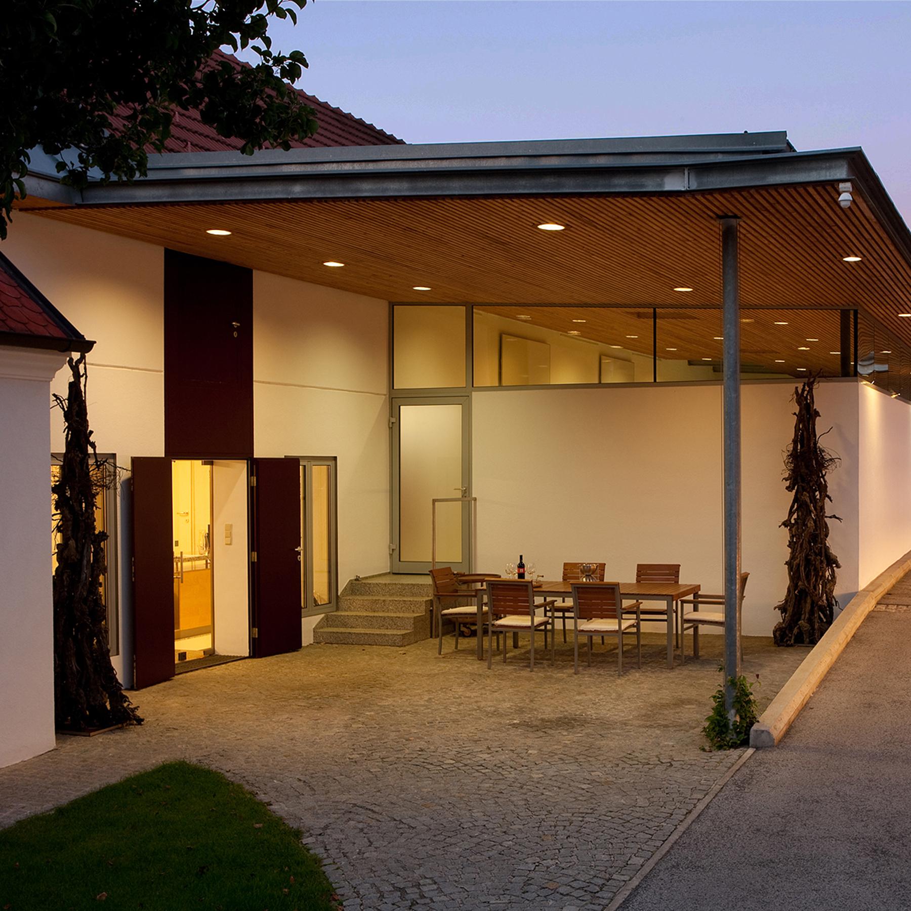 Eingangsbereich Weingut